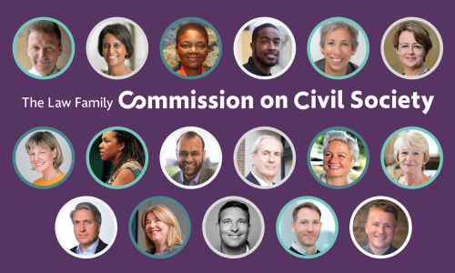 Press release: 17 Commissioners assembled to lead new Commission on Civil Society